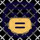 Angel Emoji With Face Mask Emoji Icon