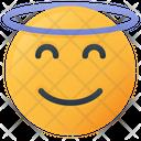 Angel Face Emoji Icon