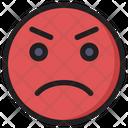 Anger Emoji Expression Icon