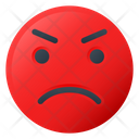 Anger Face Emoji Icon