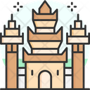 Angkor Wat Cambodia Historic Monument Icon