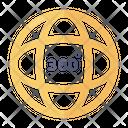 Angle 360 Angle 3 D View Icon
