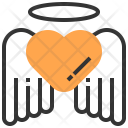 Angle Heart Love Icon