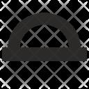 Angle, Protractor Icon