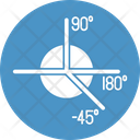 Angles Degrees Geometry Icon