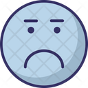Angry Emoticons Eyebrows Icon