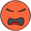 Angry Pouting Face Icon