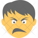 Confounded Angry Boy Icon