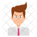 Angry Businessman Unhappy Icon