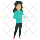Angry Businesswoman Broken Icon
