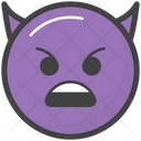 Angry Devil Face Icon