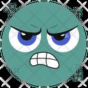 Angry Emoticon Horror Emotion Emoji Icon