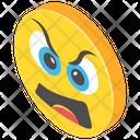 Angry Emoticon Icon