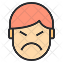 Angry Emotion Face Icon