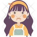 Angry Girl Icon