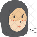 Angry Hijab Girl Icon