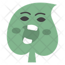 Angry Leaf Icon