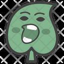 Angry Leaf Emoji Leaf Emoticon Emotion Icon