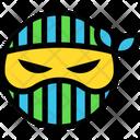 Angry Ninja Emoticon Icon