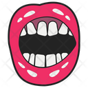 Angry Open Mouth Icon