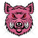 Pig Mascot Pig Face Angry Pig Icon