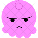 Angry Pink Cartoon Icon