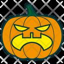 Halloween Pumpkin Angry Icon