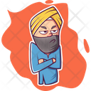 Angry Punjabi Man Icon