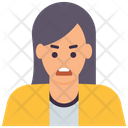 Angry Woman Icon