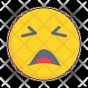 Emoji Emoticon Anguished Icon