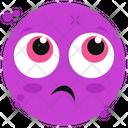 Anguished Emoticon Icon