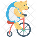 Animal Bike Circus Icon