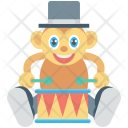 Animal Circus Monkey Icon