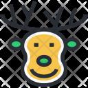 Animal Head Christmas Icon