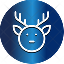 Animal Face Reindeer Face Icon