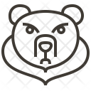 Animal Bear Face Icon