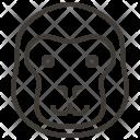 Animal Face Gorilla Icon