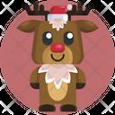 Animal Avatar Christmas User Icon