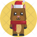 Animal Avatar Dog Christmas Icon