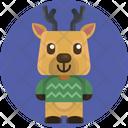 Reindeer User Avatar Icon