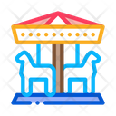 Animal Carousel Amusement Icon