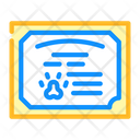 Animal Certificate Certificate Groomer Icon