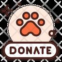 Animal Donation Paw Donate Icon