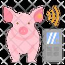 Livestock Tracking Iot Pig Monitoring Animal Id Animal Identification Livestock Technology Icon