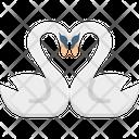 Animal Love Greetings In Love Ducks Icon