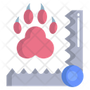 Trap Animal Paw Trapping Animal Footprint Trapping Icon