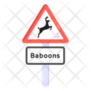 Animal Road Animal Signboard Road Post Icon