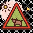 Animal Warning Sign Icon