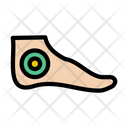 Ankle Foot Injury Icon