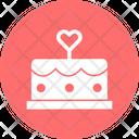 Anniversary Cake Cake With Heart Cake Icon